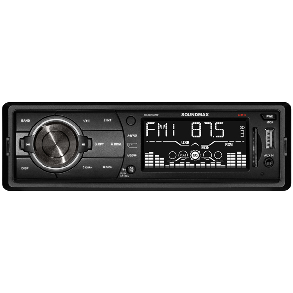 Купить SM-CCR3075F Black/White, USB-Автомагнитола Soundmax