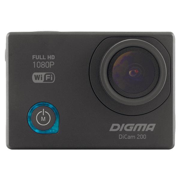 Digma, Видеокамера экшн, DiCam 200 черный