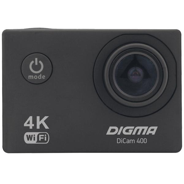 Видеокамера экшн Digma DiCam 400 черный карты памяти