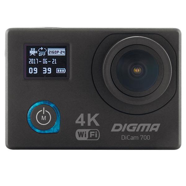 Digma, Видеокамера экшн, DiCam 700 черный