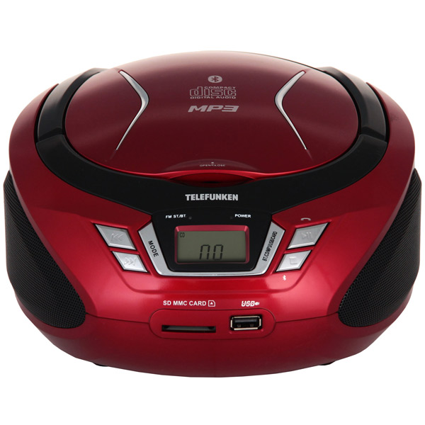 Магнитола Telefunken TF-CSRP3495B Red