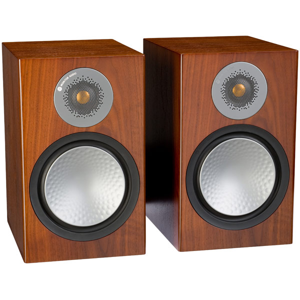 Полочные колонки Monitor Audio Silver 100 Walnut полочные колонки monitor audio monitor mr2 walnut