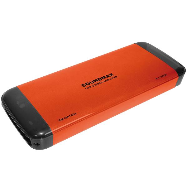 Автомобильный усилитель (4 канала) Soundmax SM-SA1004 Orange усилитель звука soundmax sm sa6023 2 канальный