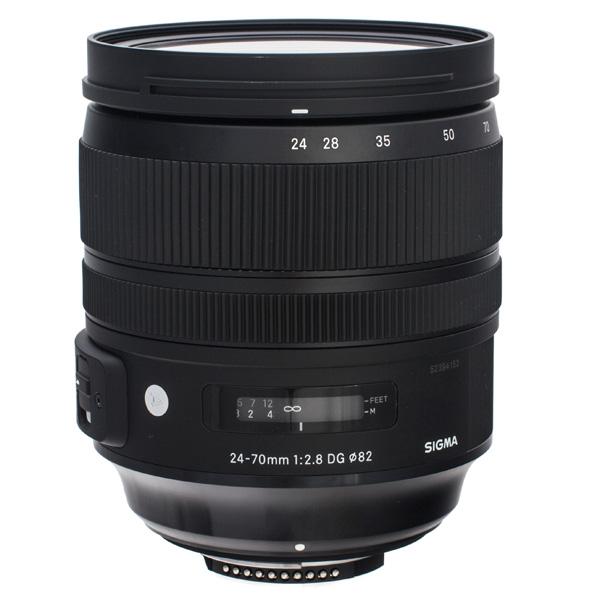 Объектив премиум Sigma 24-70mm f/2.8 DG OS HSM A