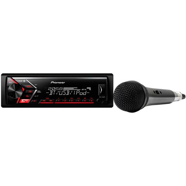 USB-Автомагнитола Pioneer MVH-S300BT-K автомагнитола pioneer mvh 280fd usb mp3 cd fm 1din 4x100вт черный
