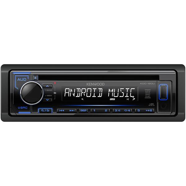 Автомобильная магнитола с CD MP3 Kenwood KDC-120UB + USB 8Gb автомагнитола kenwood kdc bt500u usb mp3 cd fm rds 1din 4х50вт черный