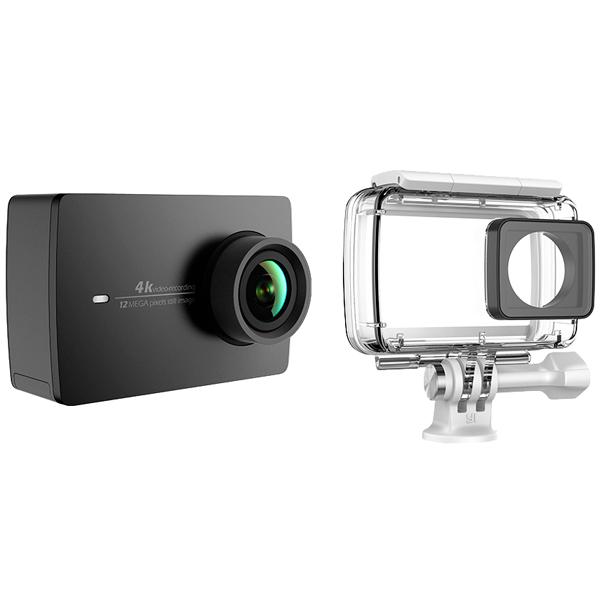 Видеокамера экшн Yi 4K комплект с аквабоксом черный