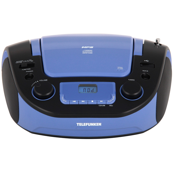 Магнитола Telefunken TF-CSRP3481 Black/Blue магнитола telefunken tf srp3449 blue with black