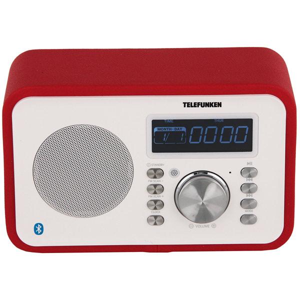 Радиоприемник Telefunken TF-1581UB Red портативная колонка telefunken tf ps1231b красный оранжевый