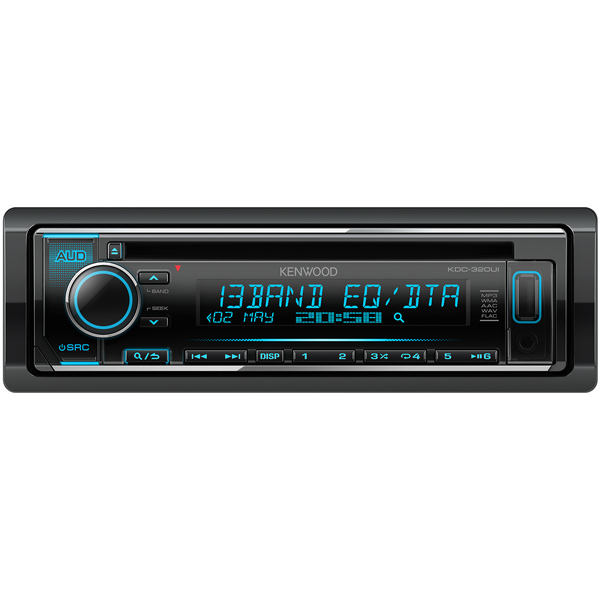 Автомобильная магнитола с CD MP3 Kenwood KDC-320UI автомагнитола kenwood kdc 300uv usb mp3 cd fm rds 1din 4х50вт черный