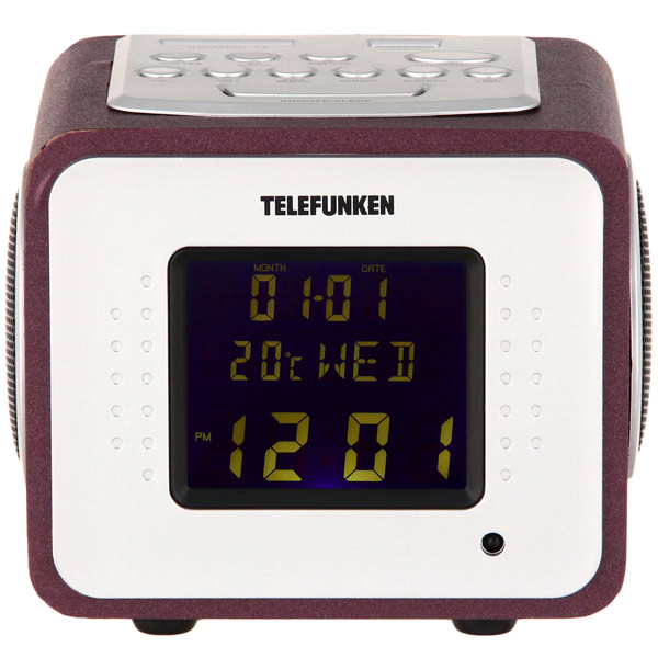 Радио-часы Telefunken TF-1575U Bordeaux/Purple
