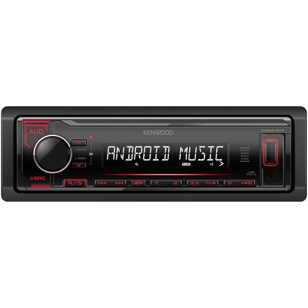 USB-Автомагнитола Kenwood KMM-104RY автомагнитола kenwood kmm 103ay usb mp3 fm 1din 4х50вт черный