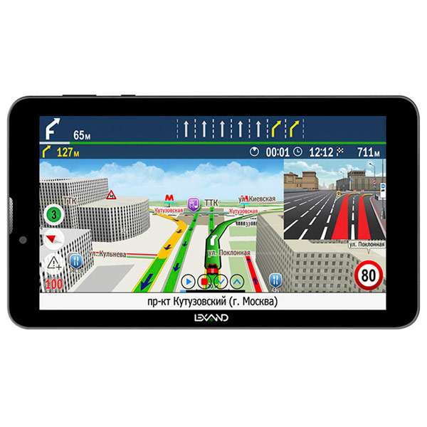 Портативный GPS-навигатор Lexand SC-7 Pro HD Прогород навигатор gps lexand sa5 hd 5 sa5 hd