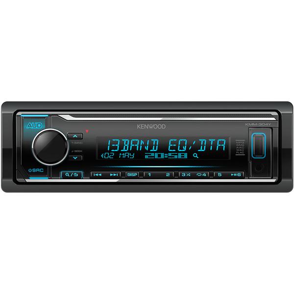USB-Автомагнитола Kenwood KMM-304Y автомагнитола kenwood kmm 103ry usb mp3 fm rds 1din 4х50вт черный