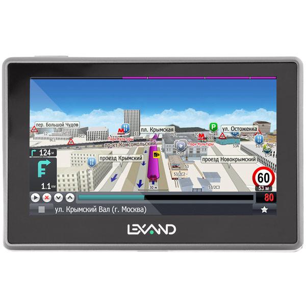 Портативный GPS-навигатор Lexand SA5 HD Прогород (Россия+60 стран) gps навигатор lexand cd5 hd 5 авто 4гб navitel 9 стран черный