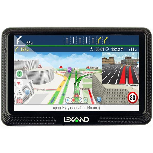 Портативный GPS-навигатор Lexand CD5 HD Прогород (Россия+60 стран) gps навигатор lexand cd5 hd 5 авто 4гб navitel 9 стран черный