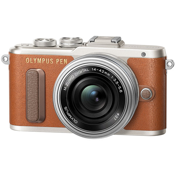 Фотоаппарат системный Olympus E-PL8 brown + 14-42mm EZ silver gift set бинокль olympus 8 16x40 zoom dps i