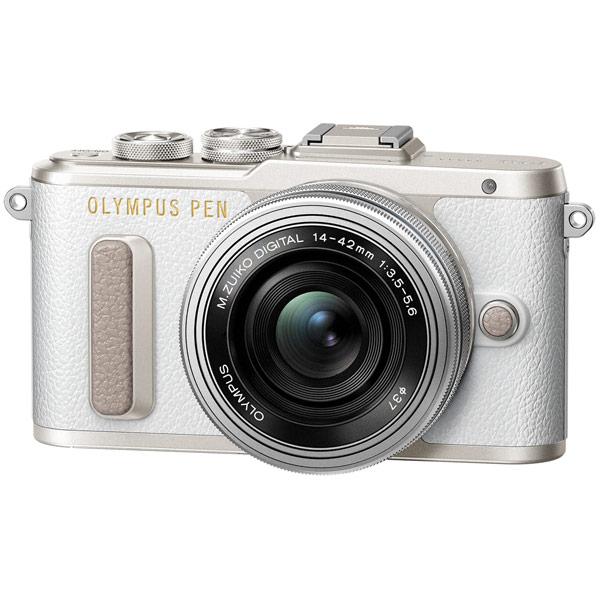 Фотоаппарат системный Olympus E-PL8 white + 14-42mm EZ silver gift set фотоаппарат со сменной оптикой olympus pen e pl8 kit 14 42mm ez белый