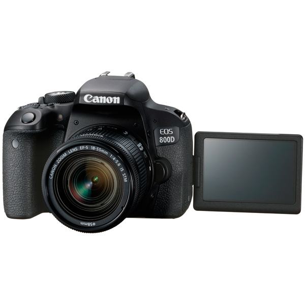 Фотоаппарат зеркальный Canon EOS 800D EF-S 18-55 IS STM Kit фотоаппарат canon eos m100 18mpix 3 1080p wifi 15 45 is stm lp e12 черный 2209c012