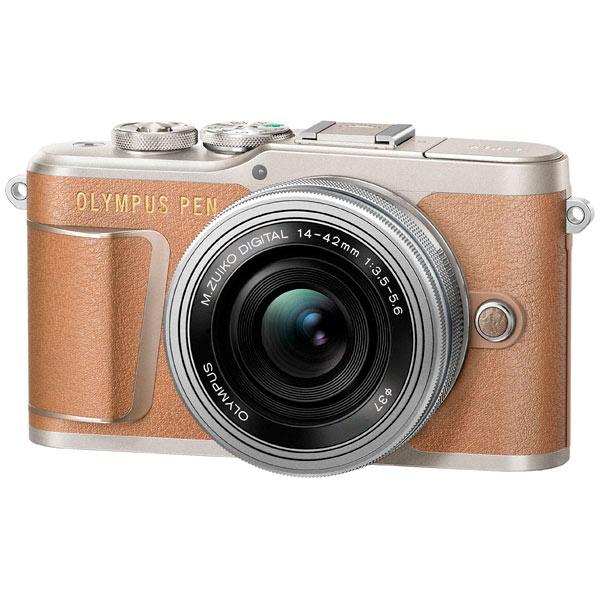 Фотоаппарат системный Olympus E-PL9 brown + 14-42mm EZ silver фотоаппарат со сменной оптикой olympus pen e pl8 kit 14 42mm ez белый