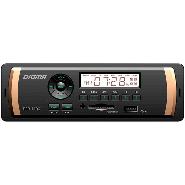 USB-Автомагнитола Digma DCR-110G