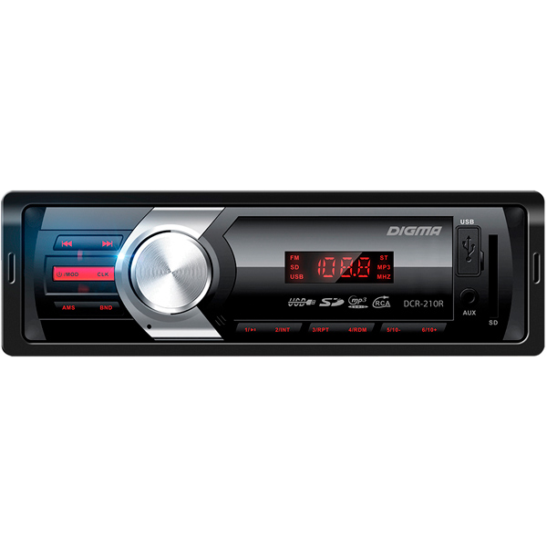 Купить DCR-210R, USB-Автомагнитола Digma