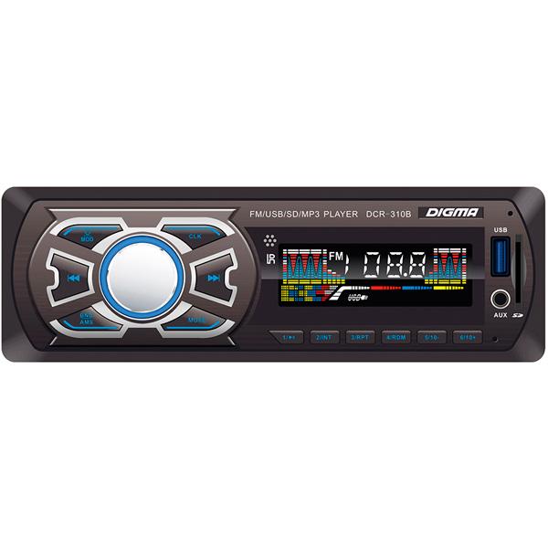 USB-Автомагнитола Digma DCR-310B автомагнитола digma dcr 310b черный