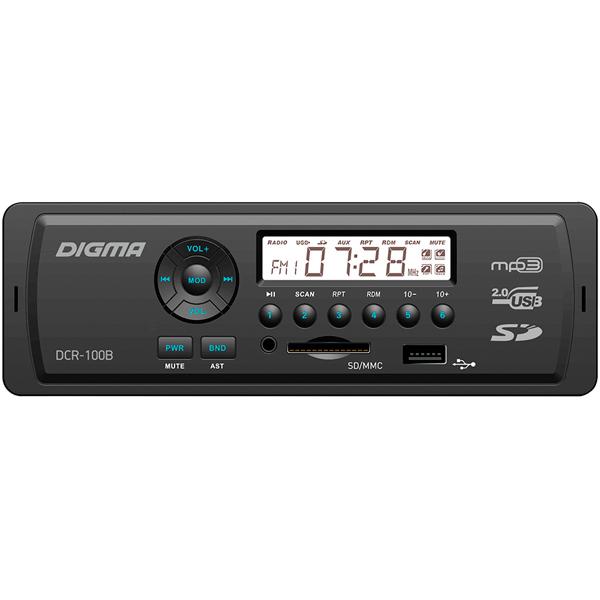 USB-Автомагнитола Digma DCR-100B в г раменском видеокамеру в магазине dcr vx2100e