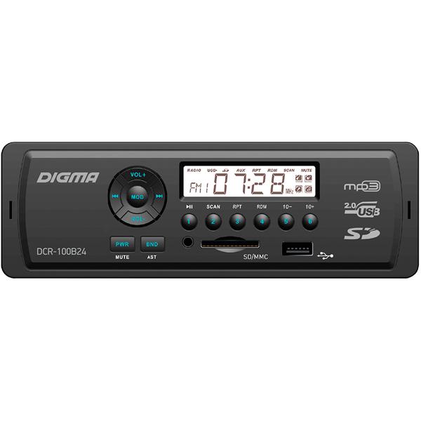 USB-Автомагнитола Digma DCR-100B24