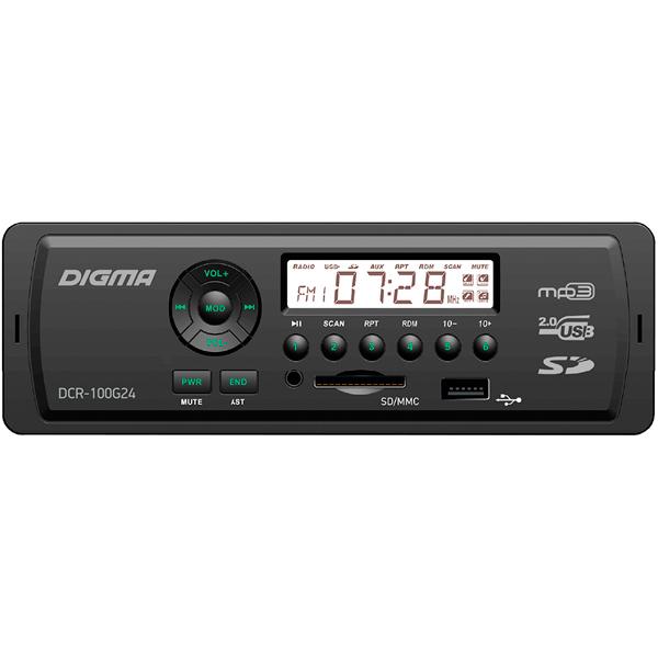 USB-Автомагнитола Digma DCR-100G24 в г раменском видеокамеру в магазине dcr vx2100e