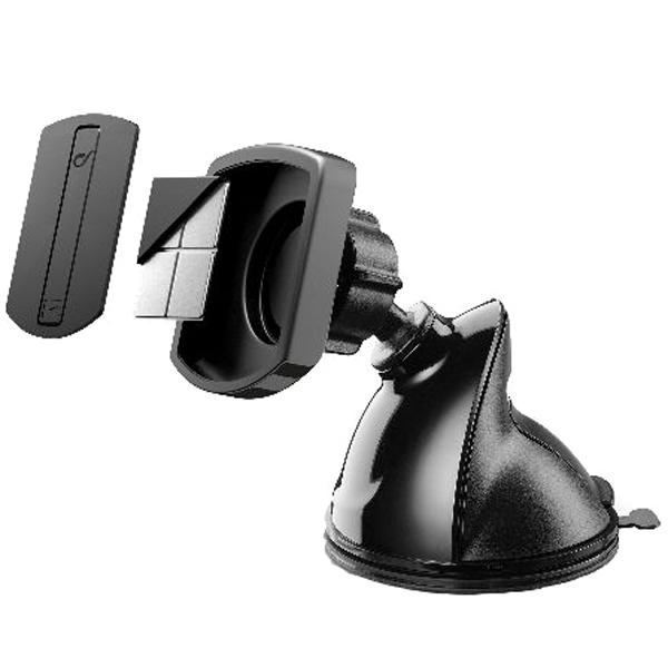 Автомобильный держатель Cellular Line MAG4PILOTFORCE черного цвета