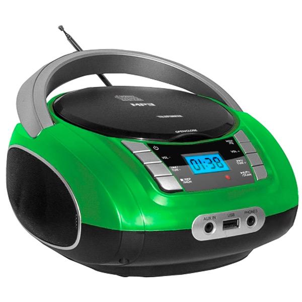 Магнитола Telefunken TF-CSRP3448 Green