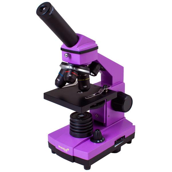 Микроскоп Levenhuk Rainbow 2L PLUS Amethyst микроскоп levenhuk левенгук rainbow 2l azure лазурь