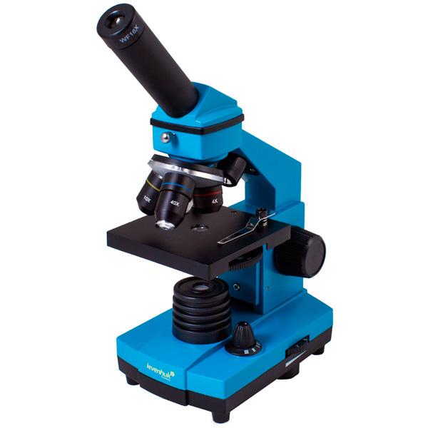 Микроскоп Levenhuk Rainbow 2L PLUS Azure микроскоп levenhuk левенгук rainbow 2l azure лазурь