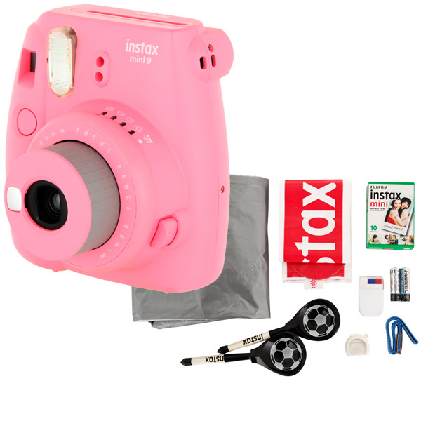 Фотоаппарат моментальной печати Fujifilm INSTAX MINI 9 PINK SET CHAMPION