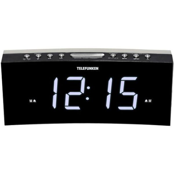 Радио-часы Telefunken TF-1569U Black/White белого цвета