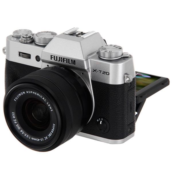 Фотоаппарат системный премиум Fujifilm X-T20 kit 15-45 Silver фотоаппарат системный премиум fujifilm x е3 kit 18 55mm black