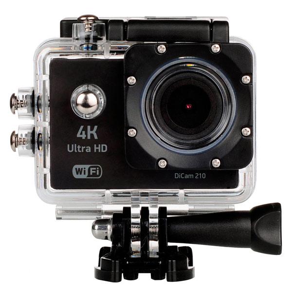 Видеокамера экшн Digma — DiCam 210 черный