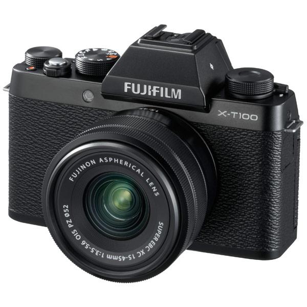 Фотоаппарат системный Fujifilm X-Т100 Kit 15-45 F3.5-5.6 Black