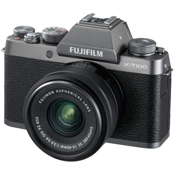 Фотоаппарат системный Fujifilm X-Т100 Kit 15-45 F3.5-5.6 Dark Silver