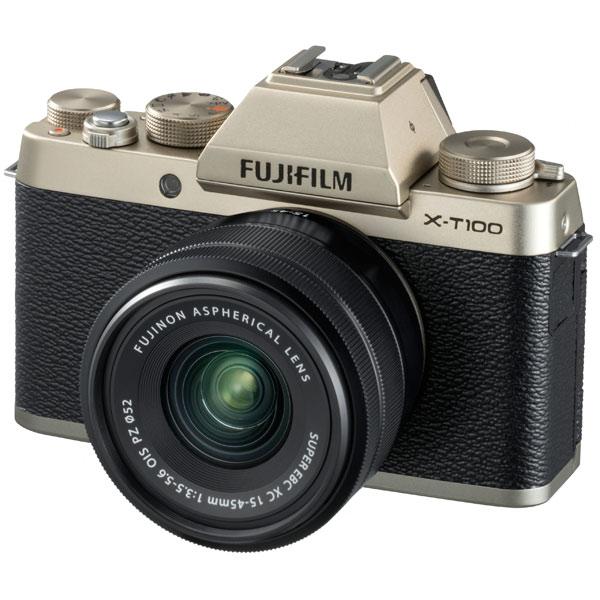 Фотоаппарат системный Fujifilm X-Т100 Kit 15-45 F3.5-5.6 Gold