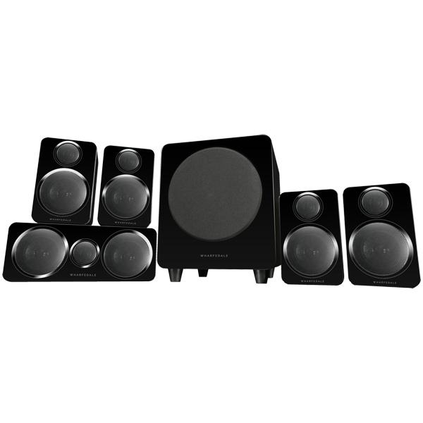 Комплект акустических систем Wharfedale DX-2 5.1 HCP System Black Leather черного цвета