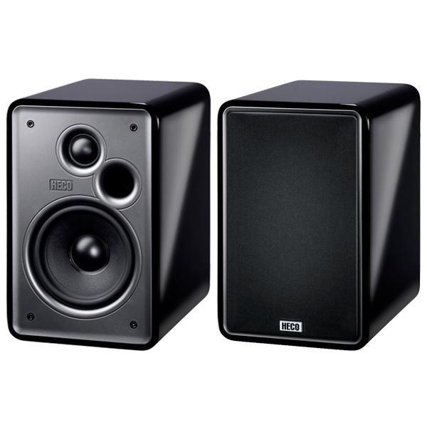 Полочные колонки Heco Music Colors 100 High Gloss Black (пара)