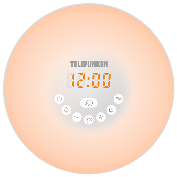 Радио-часы Telefunken TF-1589B White цвет янтарный