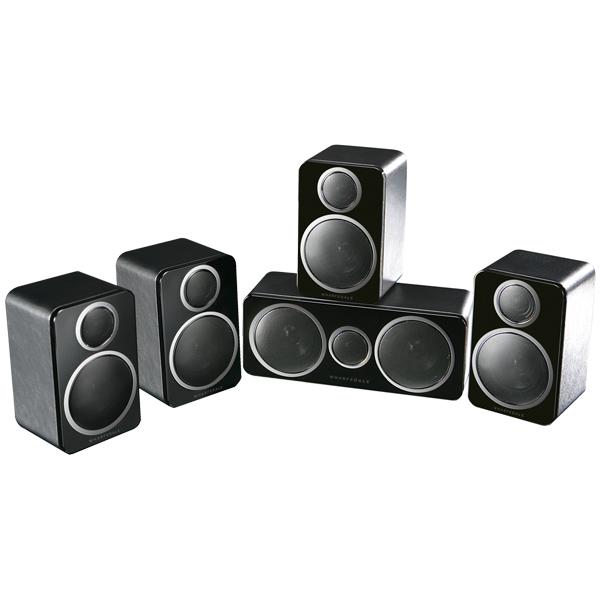 Комплект акустических систем Wharfedale DX-2 5.0 HCP System Black Leather черного цвета