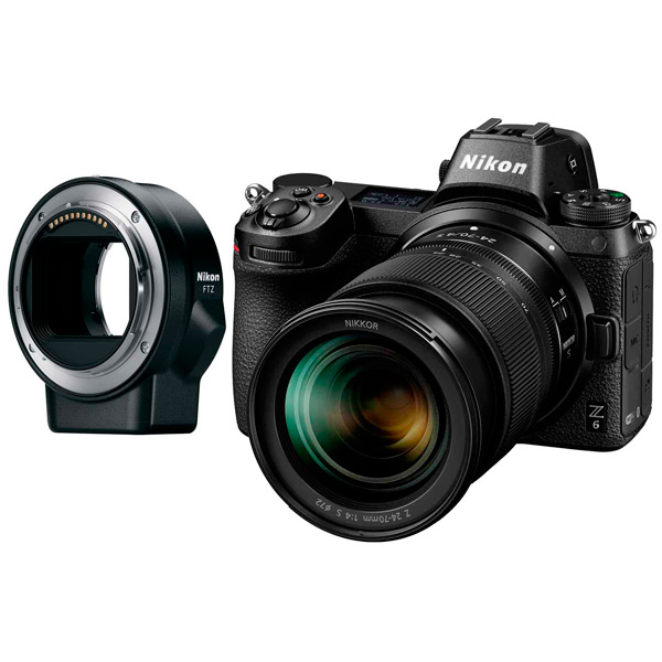 Фотоаппарат системный Nikon Z 6 + 24-70mm f4 + FTZ Adapter Kit