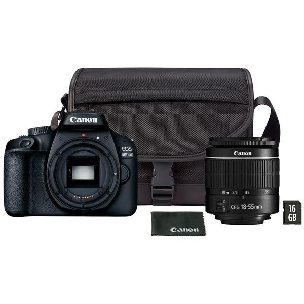 Фотоаппарат зеркальный Canon EOS 4000D 18-55 III+сумка+SD16GB фото