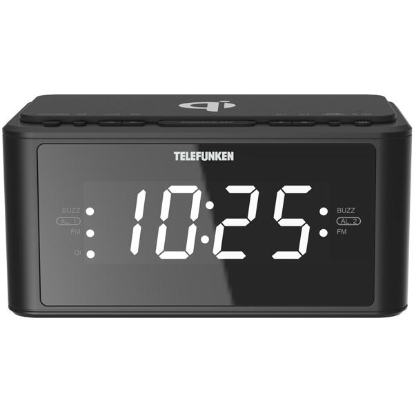 Радио-часы Telefunken TF-1595U Black белого цвета