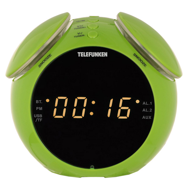 Радио-часы Telefunken TF-1570 Green/Amber