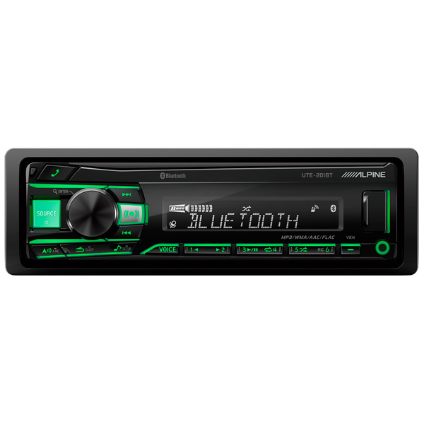 Автомобильная магнитола с CD MP3 Alpine UTE-201BT